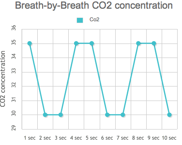 Breath-by-breath co2 concentration