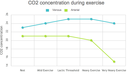 CO2 concentration during exercise